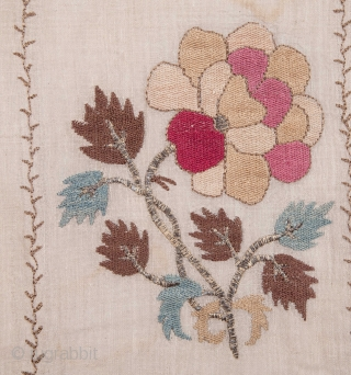 Ottoman Embroidery Fragment 47 x 113 cm / 1'6'' x 3'8''