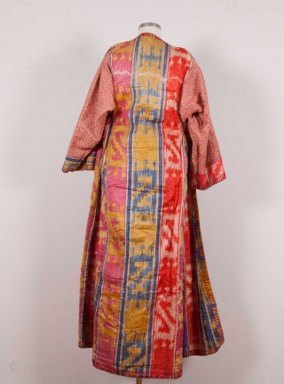 Central Asian Brocaded Chapan with ikat lining