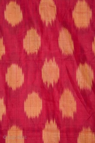 Never-Used Roll of 19th C.Silk ikat from Uzbekistan 30 x 422 cm / 0'11'' x 13' 10''