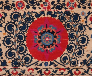 Early Shakrisabz Suzani Fragment 62 x 286cm / 2'0'' x 9'4''