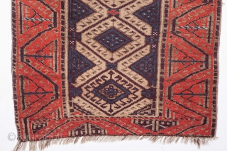 Baluch Rug with missing body parts and still standing