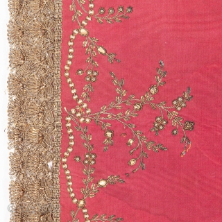 Chalice Veil, Probably Italian or French  19th C or Earlier 58 x 63 cm / 22.83 x 24.8 in. AVAILABLE