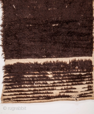 A Very Artistic Konya Karapinar Tulu Rug as found with a name woven in  140 x 255 cm / 4'7'' x 8'4''