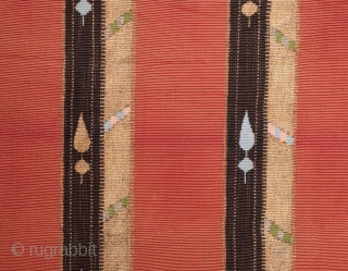 Syrian or Lebanese Silk Tapestry  42 x 65 cm / 16.54 x 25.59 inches