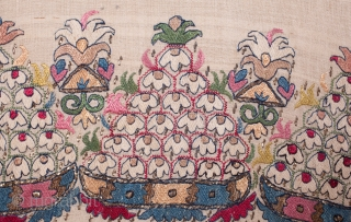 Ottoman Embroidered Towel / Peskir ( reversable embroidery )  43 x 110 cm / 1'4'' x 3'7''