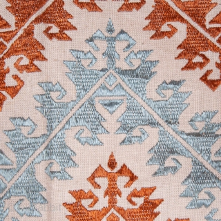 Greek Naxos Embroidered Pillow Top early 19th C. 48 x 49 cm / 18.9 x 19.29 in.