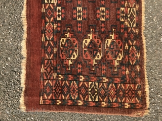 Collectible Yomud torba with natural colors and interesting design, 42x102cm