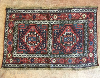 Persian shahsavan mafrash in perfect condition and super colors size 88x56cm