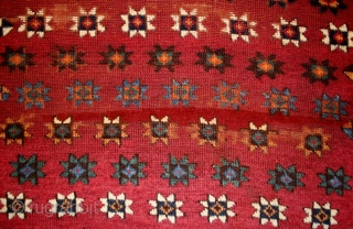 early Anatolian Kurdish rug, with rare drawing, spectacular colors, fine weaving, size: 125x168cm,