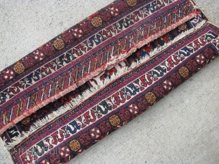 """2' 2"""" x 2' 5"""" Afshar with piled closures    Free Ship/U.S.    3 day returns policy."""