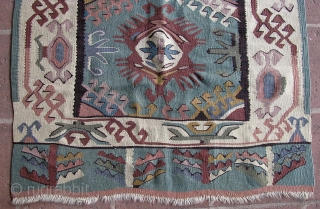 "3' 5"" x 4' 10"" European Kilim; needs to be cleaned.  3 day returns/shipping included in quote/U.S.A."
