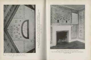 Two Books: Early American Wall Stencils, by Janet Waring, 1937. Hardcover; 86 pages text with another 96 black/white plates and 7 color plates. Good condition - foxing on endpapers; corners slightly bumped;  ...