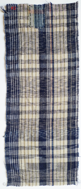 Group of 12 Japanese Plaids. Bought in Japan in the 1970s from a boroichi's warehouse - were old then. Good for patching. Assorted sizes and conditions - some with holes and patches.  ...