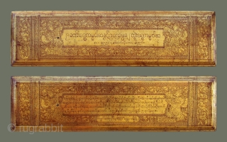 Burmese Buddhist Manuscript 'kammawa' or kammavaca' - Richly decorated and in excellent condition, this is the best example of these unusual manuscripts we've seen in a long time. This one is particularly  ...