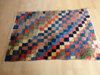 Rare and  superb  antique  Bakhtiari  longpile  Gabbeh  87 X 129  cm.