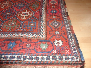 Antique  Northeast Persian  Quchan Kurd  19 th. century  141 X 178  cm. with  superb  natural colours , no  wear with  some  ...