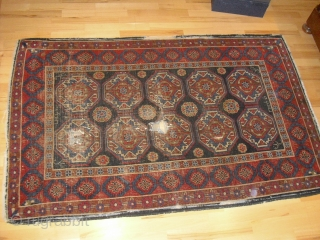 Veramin - Varamin - carpet - fragmented - very unique in size and drawing - 19ct - washed