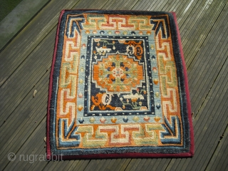 Old Tibetan (maybe around 1920?) mat in good condition - Size: 67 x 80 cm, shipping worldwide possible