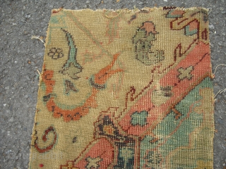 Antique Carpet Fragment - around 1800 - Size: 60 cm x 32 cm - very rare, I have no idea about the provenience of this piece - shipping worldwide possible