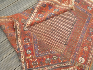 rare Afshar Fragment - recently washed - great colours - absolute in original condition -  colour deviations are original