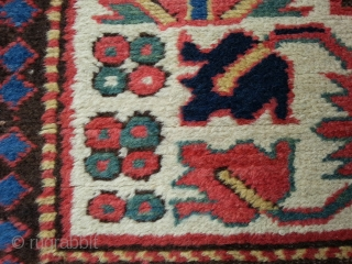 """Very rare """"Animal"""" Kasak, 145 x 215 cm, some home made repairs and small reknotted areas."""