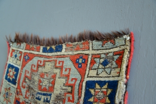 Early Anatolian Yastik with rare and unusual goat or horse hair foundation.