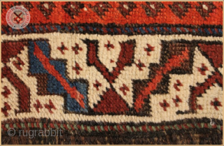 """TR 2234 -  Antique Baluch rug circa 1880 wool on wool foundation Very good condition Size : 1.38m x 0.92m  4`6"""" x 3`0"""""""