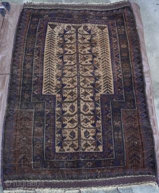 "Baluch Prayer Rug circa 1880s , size 2'10"" x 4'4"" (86 x 132 cm.)"