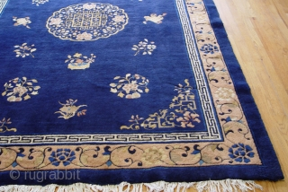 """Antique Peking Chinese , size is 6'1"""" x 8'7"""" has a full pile through out the rug and is in wonderful condition for its old age, has been hand washed and cleaned,  ..."""