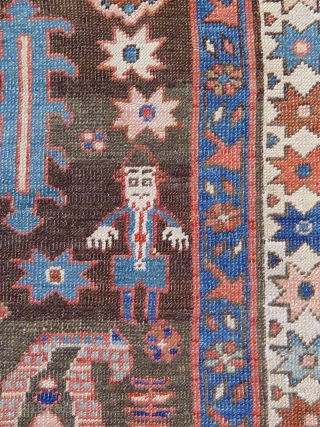 "Antique Persian Bakhshayesh , size 11'6"" x 17'8"" (350 x 538 cm)circa 1800-1880's, 100% wool (pile and warp and weft all are made of wool), the rug and its colors looks much  ..."