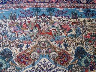 """7'2"""" X 10'2"""" Sensational Persian Tabriz , very good condition, circa 1900. fringes added on both ends."""