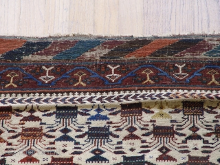 "3'6"" X 6'10"" Baluch rug , 100% wool and natural dyes, circa 1870's"