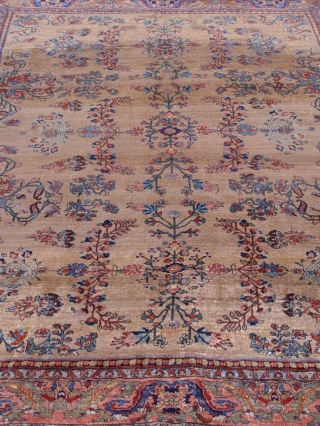 "Antique Persian rug Bijar , 9'2"" x 12'2"" circa 1860, 100% wool pile and warp and weft , very good condition , no repairs,  no touch up, no odor, has been  ..."