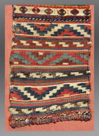 "Luri 'Chanteh' (personal bag), S. Persia, 19th C., 10"" x 2'1"" (exclusive of the mount)
