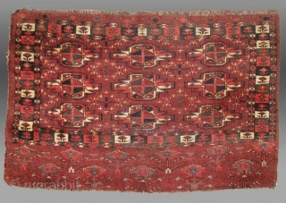 "Yomud Turkmen Chuval, Central Asia, 19th century, 3' 6"" x 2' 4""