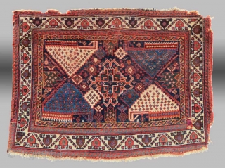 "Afshar Bag Face, S. Persia, 19th C., 2' 10"" x 2 1""
