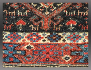 "Veramin ""Chanteh"" (personal bag) or Bag Face, N. Persia, 19th C., 18"" x 13""