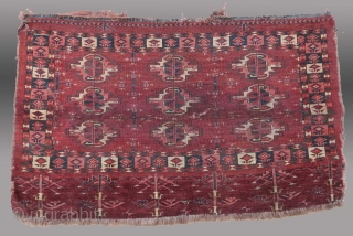 """Turkmen """"Chuval"""", Yomut Group, Central Asia, 19th C., 3'6"""" x 2'6""""  SOLD"""