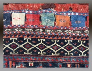 "Veramin Region Bag Face, N. Persia, 19th C., 2'9"" x 2'10""