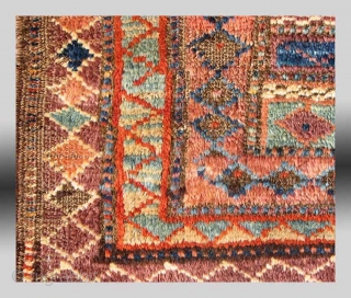 """Baluch """"Pushti"""" (Bag Face), W. Afghanistan, 19th Century, approx 1'7"""" x 2'10""""  An extremely unusual example of a functional type of weaving, a type that is only found in Afghanistan among the so-called  ..."""