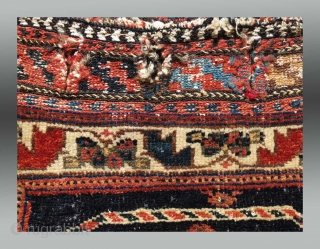 Afshar Bag, S. Persia, late 19th C.  No repairs, condition is apparent in the photos  Please inquire for more information/details  $325 incl domestic USA shipping