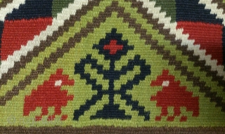 Antique Swedish kilim(Rolakan technique), no: 321, size: 98*58cm, pictorial design, wall hangings.