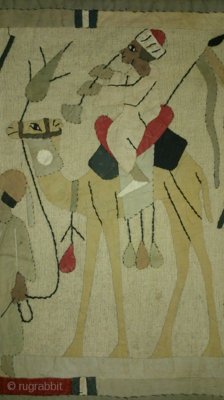 Egyptian applique on fabric, no: 167, size: 119*43cm, 20th century.