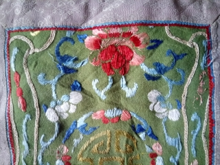 Antique cushion Chinese embroidery silk on felt, no:409, size: 33*29cm.