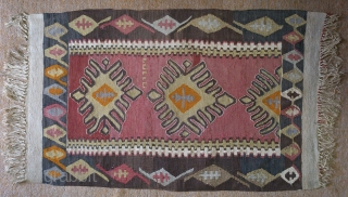 Antique Anatolian Armenian Kilim, no: 130, size: 102*65cm, wool and cotton on cotton .