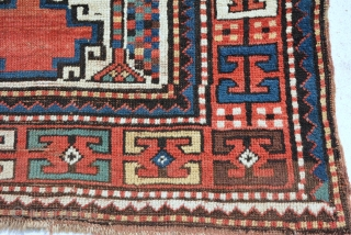 Rare Kazak rug 19th century, size is 146 x 88 cm
