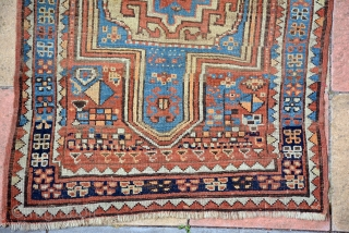 Late 19th Century Kurdish Double Niche rug 182 x 100 cm