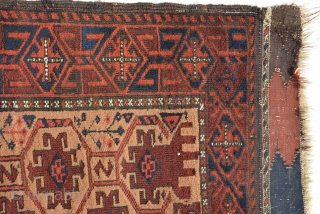 An Exceptional Baluch Double nishe prayer rug. Excellent condition and very good pile. Age: 19th century size: 179 x 100