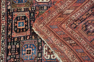 Rare Dated Afshar, good pile, secured the places. Size is 173 x 146