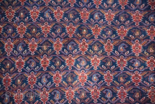Attractive Afshar, superb pattern worn but beauty and Kilim both ends